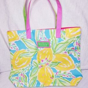 Lilly Pulitzer for Estee Lauder beach / tote bag